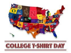 College T-Shirt with Jeans for $2